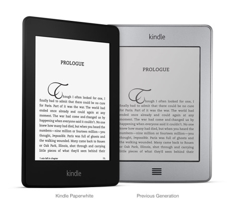 Side by Side Comparison Kindle Paperwhite to Kindle Touch