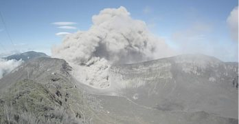 After days of great volcanic activity, turrialba volcano offers a beautiful landscape