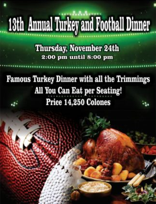 Turkey Dinner at Sportsmens Lodge