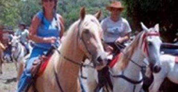Linda Gray on the Horse Farm in Costa Rica